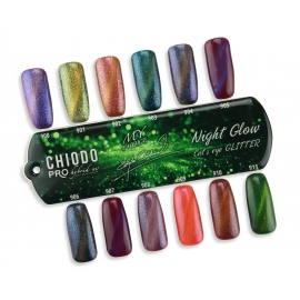 CHIODO PRO wzornik NIGHT GLOW CAT'S EYE GLITTER UV HYBRID