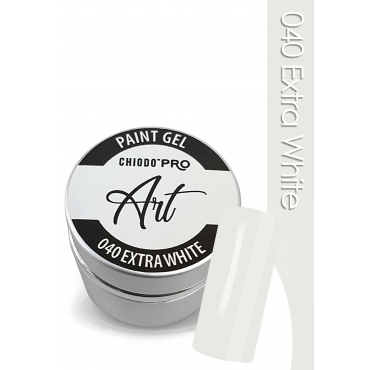 CHIODO PRO Art Paint Gel - 040 Extra White 5ml