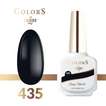 Lakier hybrydowy Colors By ChiodoPRO nr 435 Deep Black 7 ml